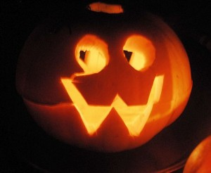 Happy, smiley, pumpkin Jack'o'Lantern